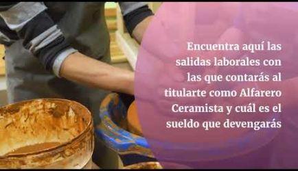 Alfarero Ceramista: vídeo de las salidas profesionales que ofrece el curso al titularte